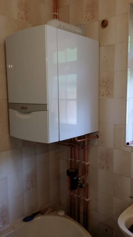 Boiler Installed in Bathroom