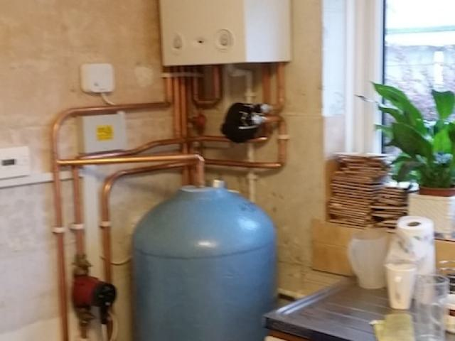 Boiler Installation in Kitchen