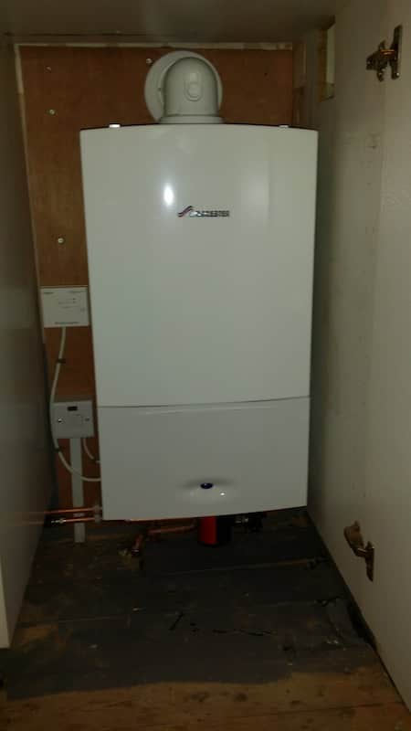 Installed Worcester Boiler