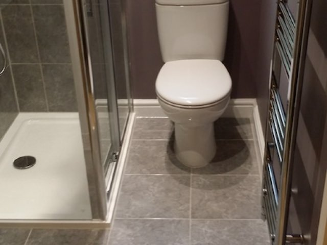 Bathroom with Heated Towel Rail